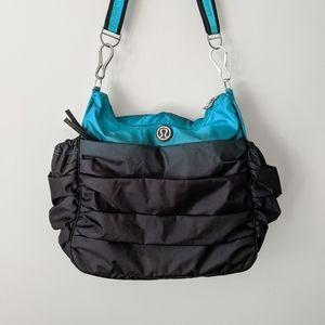 Rare Lululemon Hot Yoga Hobo Bag Surge Black Ombre